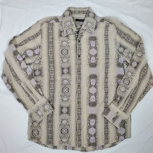 Kenneth Cole Men's XL Casual Print Button-Down